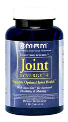 MRM's Joint Synergy Plus blend includes synergistic, natural ingredients to help aid in joint pain relief..