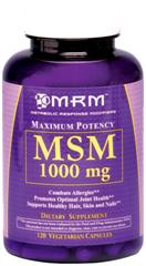 Higher dosage MSM from MRM gets you more relief for less money..