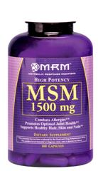 Maximum strength MSM for joint pain relief.