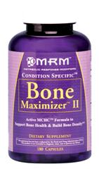 Containing MCHC, Bone Maximizer II utilizes the latest clinical research in it's formulation to help maintain or increase bone density..