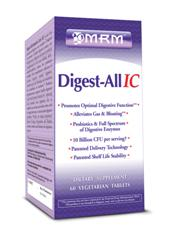 Digest All digests all! A great vegetarian, plant enzyme based product to aid digestion for every meal may help reduce inflammation in the intestines and alleviate symptoms of IBS..