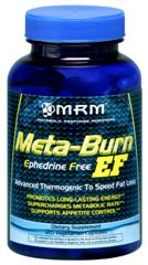 No Ephedra needed with MRM's EF Thermogenic Formula which provides natural, safe nutrition to aid in controlling appetite, burning calories and losing weight..