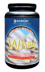 This rich vanilla whey from MRM adds bulk and protein to your diet..