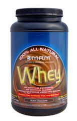 Smaller sized Dutch chocolate flavored whey from MRM for protein and calories..