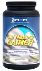 Easily digested All Natural Gainer is great tasting in Vanilla and helps you keep weight on, or reach that bulkier you..