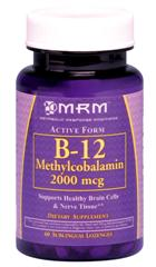 High potency B-12 with Folic Acid is best absorbed in this sublingual tablet..