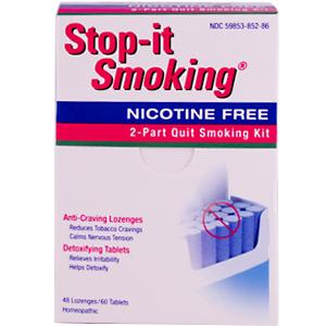 Stop-It Smoking helps you gather the strength and support you'll need to quit smoking without the nicotine. Stop-It Smoking is a two-part smoking cessation program with powerful ingredients that address craving reduction and body detoxification. A true smokers remedy that effectively lifts you away from the cravings and toxins that have built up from tobacco use and addiction..