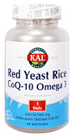 Red Yeast Rice CoQ-10 Omega 3 (60 softgel).
