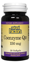 Natural Factors Coenzyme Q10 is blended in a base of rice bran oil (not soy oil) for enhanced absorption. Coenzyme Q10, also called Ubiquinone, is a natural substance essential to cellular energy production..