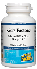 Kid's Factors Balanced DHA Blend with Omega 3 & 6 (60 softgels)(Evening Primrose Oil) is an excellent omega oil blend ideal for the healthy brain function in children as well as adults.Easy to swallow extra small soft gels..