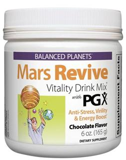 Mars Revive is an anti-stress formula for men in a delicious chocolate drink mix that supports virility and helps sustain energy and vitality..