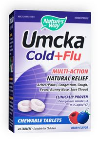 Umcka Cold + Flu, Nature's Way Clincally proven Pelargonium sidoides 1X plus Alpha CF. Recover Faster. Stay Healthy Longer..