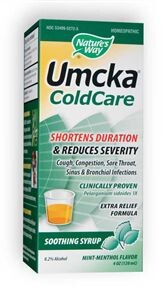 Umcka Cold Care Menthol Syrup is effective relief from upper respiratory tract irritations..
