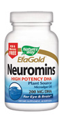 Nature's Way EFA Gold Neuromins is the highest quality non-fish source of DHA. DHA supports mental, visual, and brain function..