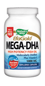 Mega-DHA is ideal as a prenatal and nursing supplement.  DHA is also essential to proper eye and brain development within infants (before and after birth) and is an important component of human breast milk..