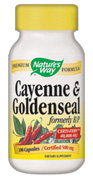 At the first sign of a cold, Cayenne-Goldenseal can stop it from developing.