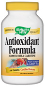 Antioxidant formula contains CoQ10 and Green Tea.