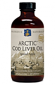 Purified Arctic Cod Liver Oil is available in six natural flavors: lemon, peach, orange, spiced apple, strawberry, and unflavored..