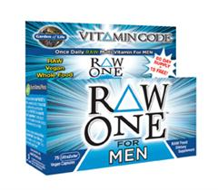 Going beyond vitamins and minerals, Vitamin Code RAW ONE For Men is an excellent choice for mental and physical energy and support of a healthy heart, optimal digestion, and prostate health..