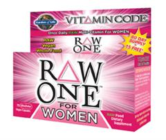 Going beyond vitamins and minerals, Vitamin Code RAW ONE For Women is an excellent choice for mental and physical energy and support of a healthy heart, optimal digestion, and breast health..