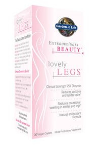Until now, the clinically-studied ingredient found in Lovely Legs, 95% diosmin, has only been available in Europe where it has been widely prescribed by doctors for decades. But now, Garden of Life offers hope to those who are seeking lovelier legs..