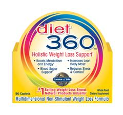 Garden of Life experts formulated Diet 360 to help you wage war on excess weight and finally win the battle of the bulge. Diet 360 provides a comprehensive and holistic approach in helping you reach your weight loss and total health goals. Todayweight loss comes full circlewith Diet 360!.