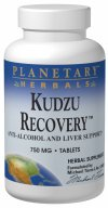 Planetary Herbals Kudzu Recovery features the roots and flowers of kudzu (Pueraria lobata), which have long been used in Chinese herbalism to help lessen the desire for alcohol. Researchers have identified two constituents in kudzu responsible for this activity, daidzein and daidzin, which in animal research have been found to cause a similar effect. These are combined with coptis, a primary cleansing and liver-supporting herb from Chinese herbalism, and other key botanicals historically used to reduce cravings..