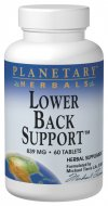 Planetary Herbals Lower Back Support utilizes classic Chinese herbs known for their ability to support the back. These are combined with the primary herbs of the famous Rehmannia Six (Liu Wei Di Huang Wan) Formula..