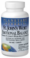 Planetary Herbals St. John's Wort Emotional Balance unites a standardized extract of Europe's legendary St. John's wort with the Chinese classic formula Xiao Yao Wan. These herbs have been widely scientifically researched and have a long history of traditional use for supporting a positive and stable emotional state..