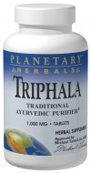 Planetary Herbals Triphala is a potent, yet gentle formula designed to support the bodys natural cleansing process. Michael Tierra learned about Triphala while studying Ayurveda in India and subsequently introduced it to the United States. It has been one of the most important formulas of Ayurvedic herbalism for thousands of years. Used as a household staple throughout India, Triphala is a balanced blend of three Indian herbal fruits: harada, amla, and behada. This formula is unique in that the astringent qualities of the fruits serve to tonify the colon, thereby promoting internal cleansing naturally..