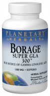 Planetary Herbals Borage Super GLA 300 is a specially prepared oil concentrate pressed from the seeds of the borage plant (Borago officinalis), using a specialized, solvent-free, cold-pressed extraction technique. Borage seeds are a rich source of essential fatty acids, including gamma-linolenic acid (GLA), which are essential for human health. These fatty acids are necessary for maintaining the fluidity and flexibility of every cell membrane, and are integral in supporting the body's normal production of prostaglandins..
