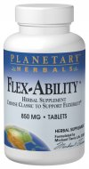 Planetary Herbals Flex-Ability is a classic Chinese formula (Shujin Chih), traditionally used to support muscles, bones and normal circulation. It has been widely used in Asia by athletes, martial artists and the elderly to support normal flexibility..