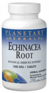 Echinacea is one of North America's most celebrated and relied upon botanicals for mobilizing our natural immune defenses. Planetary Herbals Echinacea Root contains 1000 mg of freshly harvested, wildcrafted echinacea root..