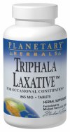 Triphala Laxative is a unique combination of the legendary Ayurvedic blend Triphala combined with key intestinal cleansers of Western herbalism for relief from occasional constipation. Unlike many laxatives, Triphala has been used traditionally to strengthen and tone as it cleanses, which helps to restore normalcy, health and efficiency to bowel function..
