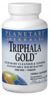 Triphala is the legendary intestinal cleanser and tonifier of India. Planetary Herbals Triphala Gold is made with premier, high quality fruits. Grown without chemicals and pesticides in the pristine forests of Madhya Pradesh, each fruit is sustainably wildcrafted and processed to maintain its freshness, purity, and quality. Deeply cleansing and tonifying, Triphala Gold is a potent, yet gentle formula designed to support the body's natural detoxification and antioxidant processes..
