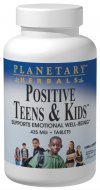 Planetary Herbals Positive Teens & Kids is a safe and natural herbal blend designed to provide deep nourishing support for the nervous system and to help maintain a happy and balanced mental outlook. Specifically designed for children and youth, Positive Teens & Kids features St. Johns wort, lemon balm, and bacopa, key botanicals for emotional balance and mental well-being..