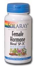 Solaray Female Hormone Blend SP-7C is a product designed for women going through hormone transition or menopause and makes the experience more mild in general and helps relieve symptoms associated with this time.