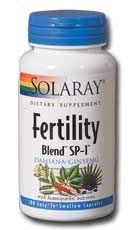 Fertility Blend SP-1 from Solaray with homeopathic nutrients for safe, healthy conception..