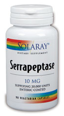 Serrapeptase is a type of Peptidase Enzyme produced in the Intestines of the silk worm in order to break down the walls of cocoons..