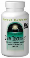 Calm Thoughts combines soothing botanicals such as St. John's wort, bacopa and Relora herbal blend, with supporting nutrients including GABA, L-theanine, magnesium, tyrosine, and folic acid, to provide a balanced formula for relaxed well-being..