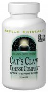 Cat's Claw Defense Complex combines powerful herbs and nutrients known for their ability to support the immune system. Source Natural's has blended  legendary botanicals such as cat's claw, pau d'arco, reishi and aloe vera, along with Plantoxidants(TM) and liver-supporting antioxidants to create the potent Cat's Claw Defense Complex..