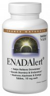 NADH is an energy-rich coenzyme of vitamin B-3 that is essential for the production of ATP, the primary energy carrier in our cells.  The brain, the nerves, the muscles and the heart require a constant supply of ATP energy in order to function.  Source Naturals now brings you ENADA, the only patented, stabilized, absorbable form of NADH available..