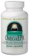 OmegaEPA Fish Oil is an excellent source of fish oils, rich in omega-3 fatty acids. Omega-3's have been the subject of intensive research, due to repeated observations that people whose diets are high in fatty fish tend to be healthier than other populations. The most important omega-3 fatty acids are EPA and DHA.  Preliminary scientific evidence suggests EPA may help maintain normal cholesterol levels when consumed as part of a low fat and low cholesterol dietary program. DHA is an important component of brain tissue..