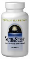 <b>NutraSleep</B> is a unique blend of natural ingredients providing vitamins minerals herbs taurine and the neurotransmitter GABA all known to be relaxing and soothing..