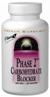 Source Naturals Phase 2 Carbohydrate Blocker contains Phase 2 white kidney bean extract.  Phase 2 works by slowing down the digestion of starch by inhibiting alpha-amylase, an enzyme that breaks down starch to be more fully absorbed by the body. Carbohydrate Blocker may help support weight loss when used in conjunction with the Maximum Metabolism Weight Loss Plan (included)..