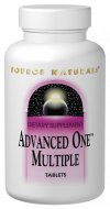 Advanced One includes special ingredients such as the 'core four' - N-acetyl cysteine, lipoic acid, silymarin and coenzyme Q10- for nutrient activation, anti-aging antioxidant protection and nonstimulant energizing. The expert formulators at Source Naturals designed Advanced One to combine high levels of vitamins and minerals with protective  nutraceuticals, based on the latest scientific research. Advanced One is the first multiple to combine the convenience of a once-a-day with formulation that reflects the advancements in nutritional science. .
