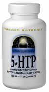 5-HTP (L-5-Hydroxytryptophan) is an intermediate in the natural conversion of the essential amino acid, tryptophan, to serotonin.  Clinical studies have shown that 5-HTP increases the amount and availability of serotonin produced by the body.  Increased brain serotonin levels may produce positive effects on emotional well-being, appetite regulation, melatonin production and maintaining a healthy sleep cycle.  Source Naturals <b>5-HTP</b> is naturally derived from the seeds of the African plant <i>Griffonia simplicifolia</i>..