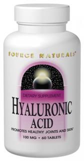 Hyaluronic acid is a major component of joint tissue. It helps to hold lubricating moisture in joints and cartilage, which affects their resilience, elasticity, and strength. Source Naturals Hyaluronic Acid is made from patented BioCell Collagen II, which has undergone an absorption enhancing hydrolyzation process that yields low molecular weight hyaluronic acid, chondroitin sulfate, and Collagen Type II peptides. These elements make it a multifaceted ingredient, which may help support joint function and the appearance of healthy skin..