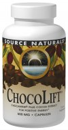 Source Naturals ChocoLift contains Chocamine(r) Plus, a proprietary cocoa extract blend. Chocamine contains highly beneficial polyphenol flavonoids, standardized to 5% for antioxidant defense. ChocoLift(TM) also contains theobromine standardized to 12% for the support of increased energy, mental acuity and cognitive function..