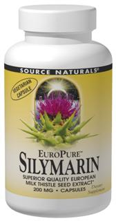Source Naturals Europure Silymarin contains a unique high quality European milk thistle seed extract. Studies have shown that silymarin acts as a free radical scavenger to support the body's own antioxidant defense system. .